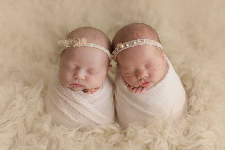newborn twins photography session sweet baby girls